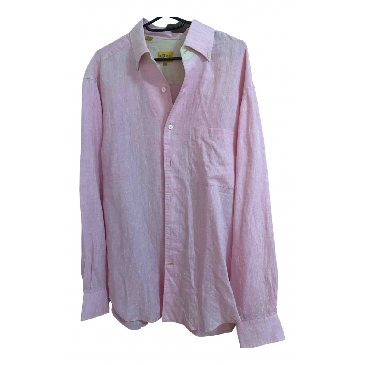- Chemises   pour homme en lin - rose