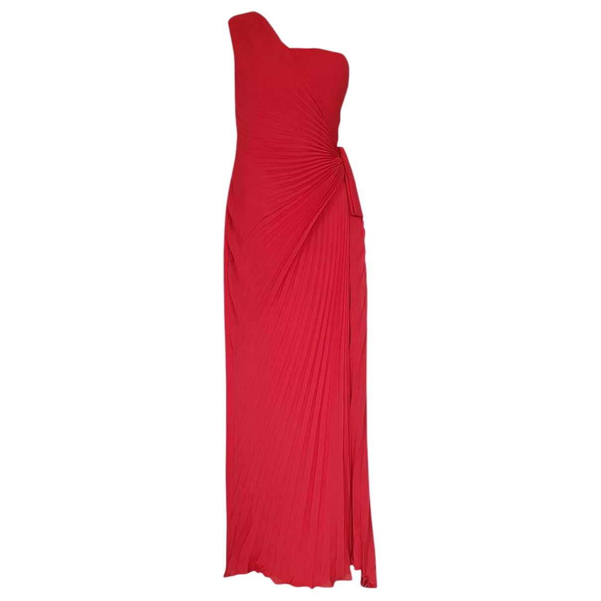 Non Signé / Unsigned \N Red Silk dress for Women L International