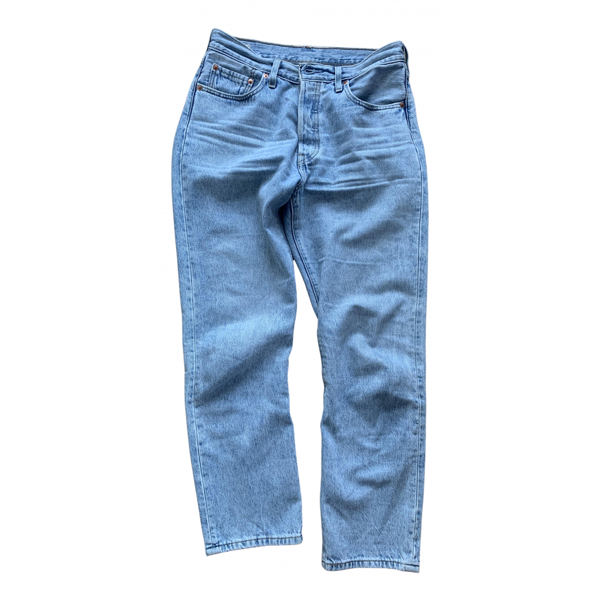 Levi's 501 Blue Cotton Jeans for Women 28 US