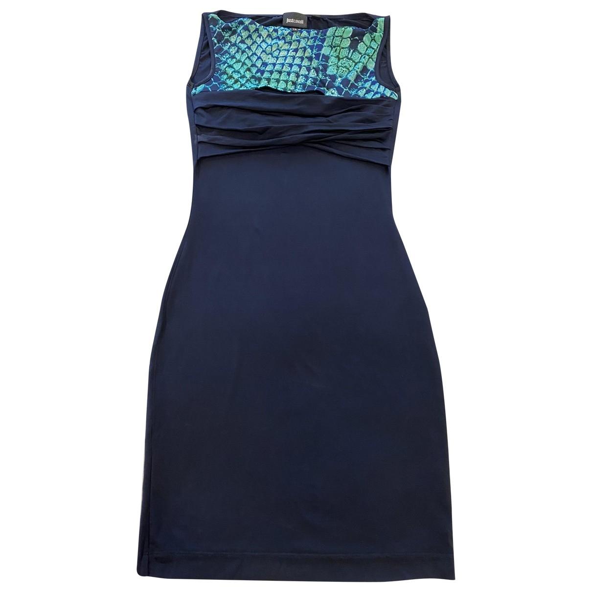 Just Cavalli \N Kleid in  Blau Polyester
