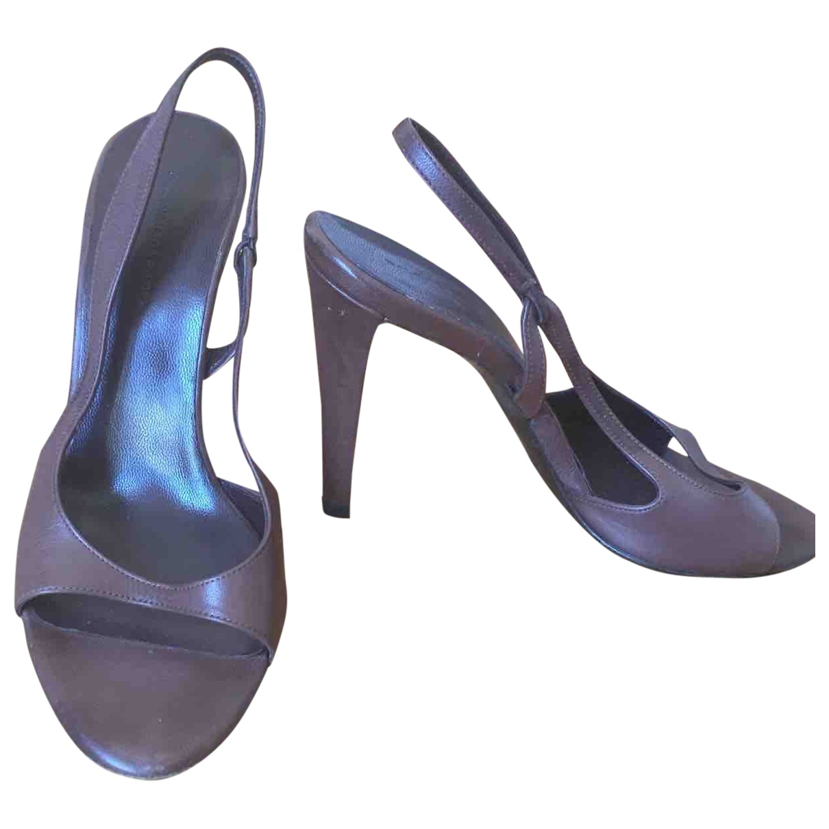 Balenciaga - Sandales   pour femme en cuir - marron