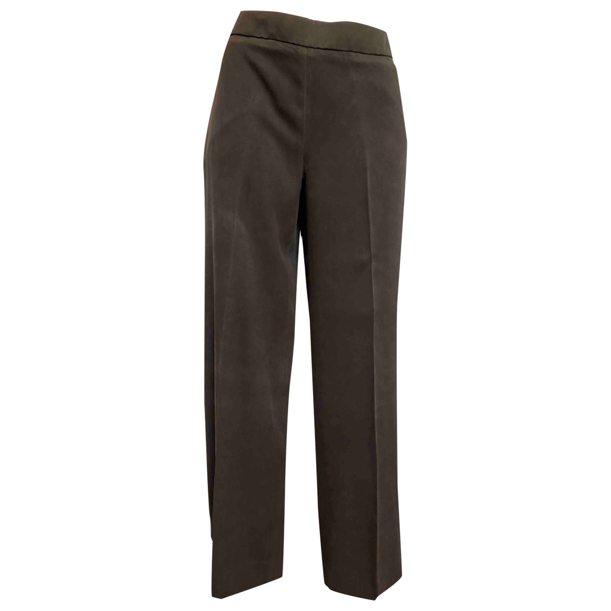 Max Mara \N Silk Trousers for Women 44 IT