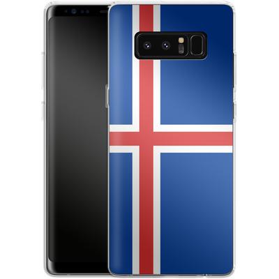 Samsung Galaxy Note 8 Silikon Handyhuelle - Iceland Flag von caseable Designs