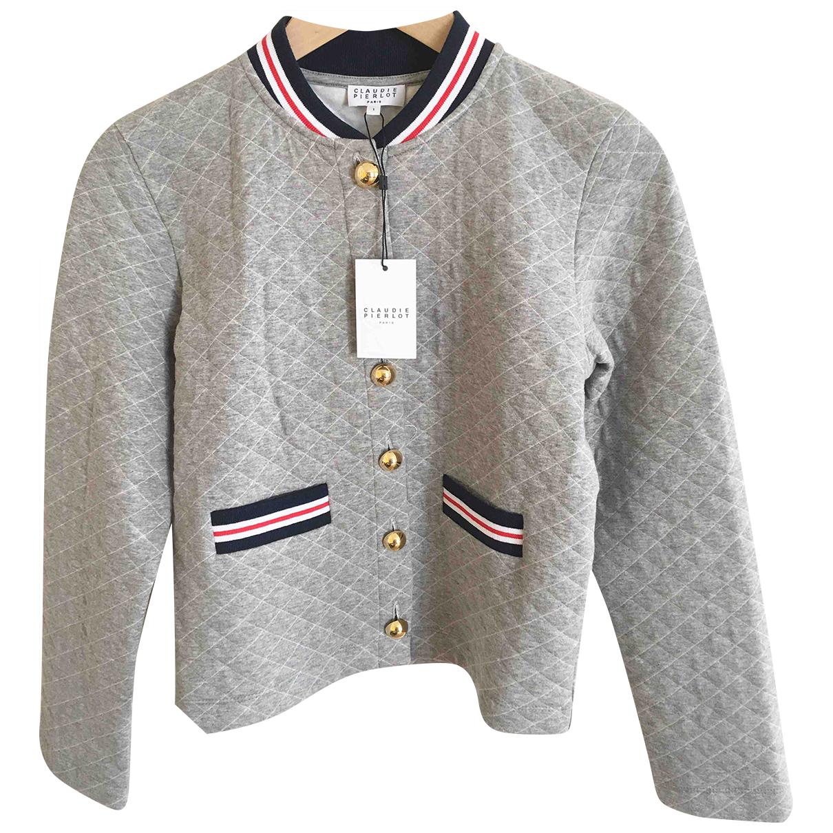 Claudie Pierlot - Veste   pour femme en coton - gris