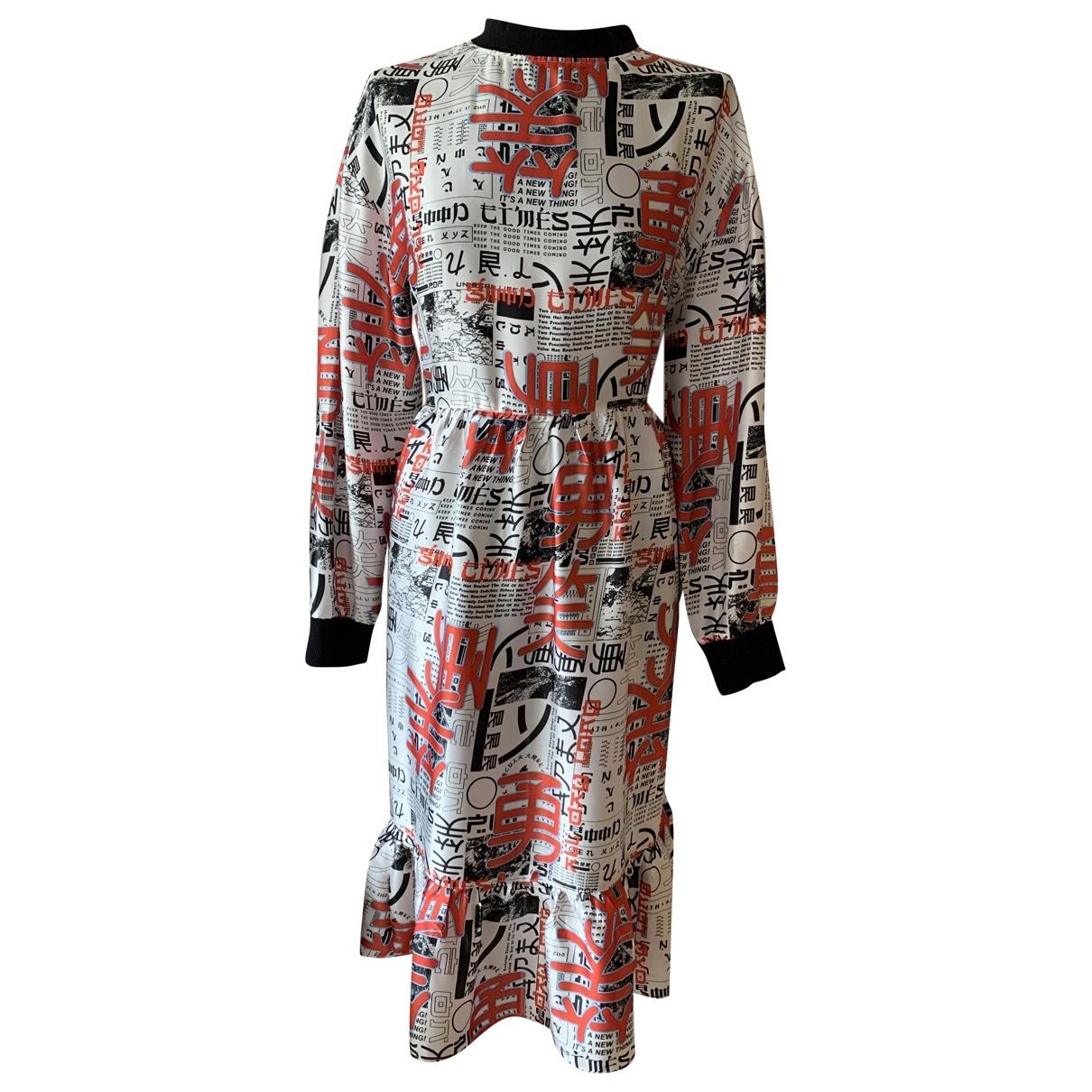 Non Signé / Unsigned Oversize Multicolour dress for Women 10 UK
