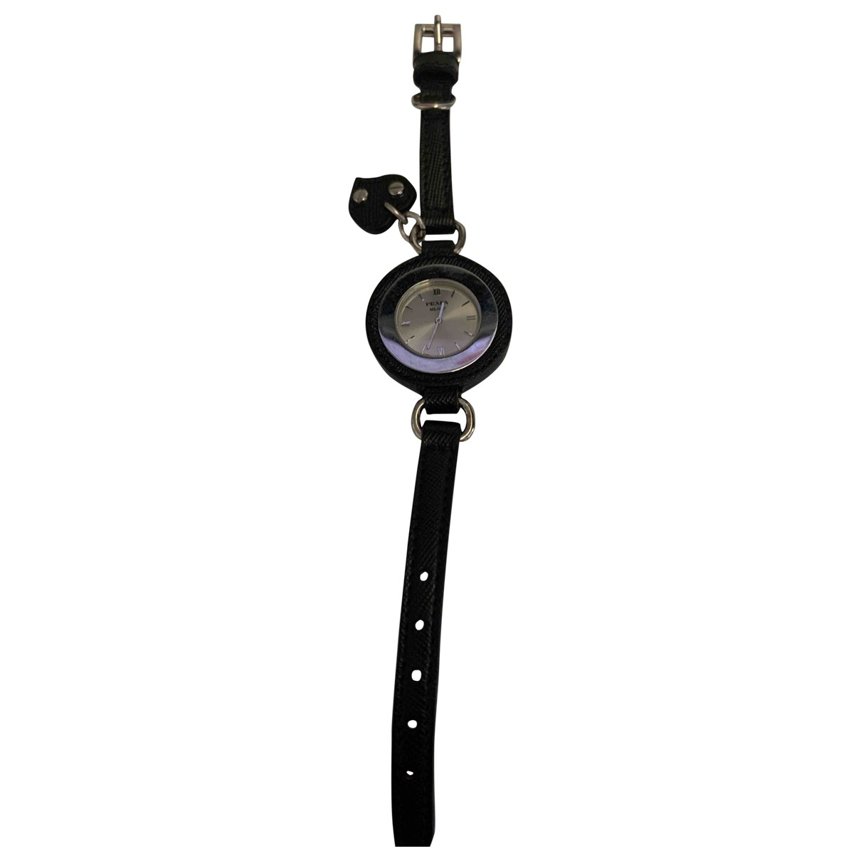 Prada \N Black Steel watch for Women \N