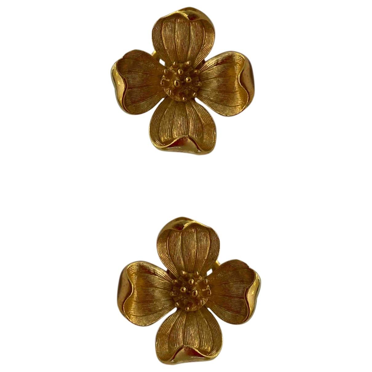 Trifari \N OhrRing in  Gold Vergoldet