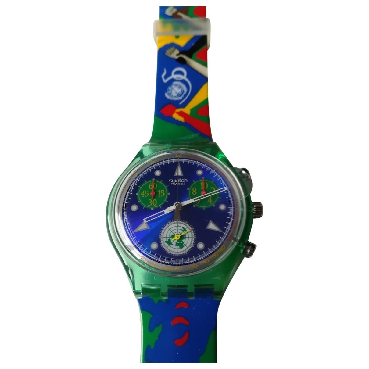 Swatch \N Multicolour Rubber watch for Men \N