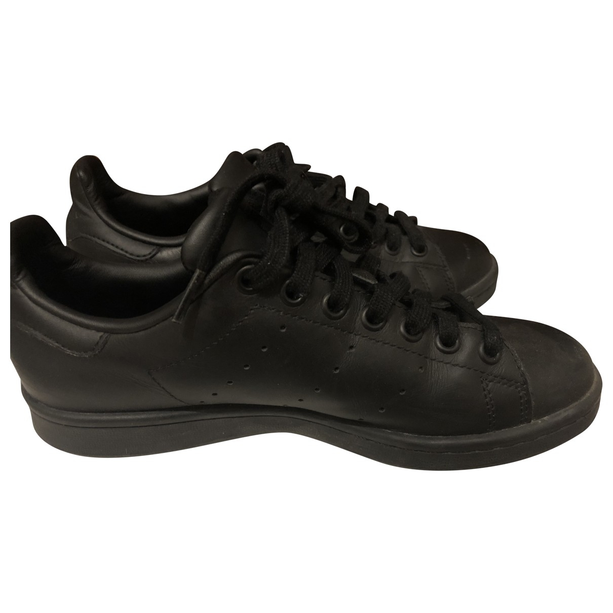 Adidas Stan Smith Black Leather Trainers for Women 38 EU