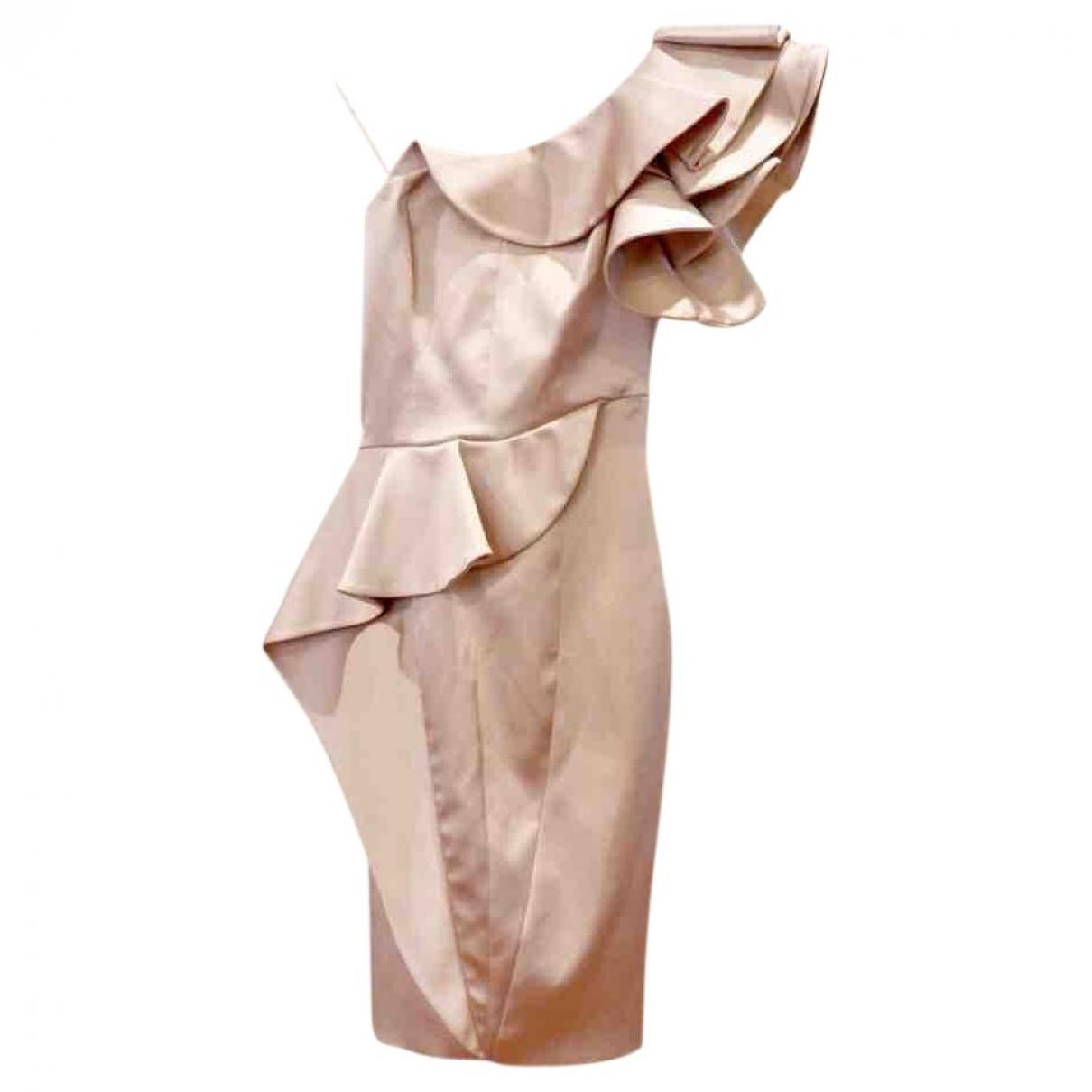 Karen Millen \N Kleid in  Rosa Seide