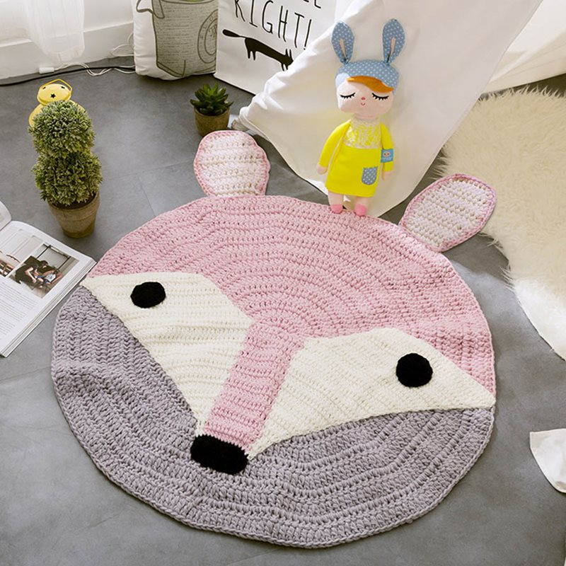 Beddinginn Color Block Round Carpets/Mats