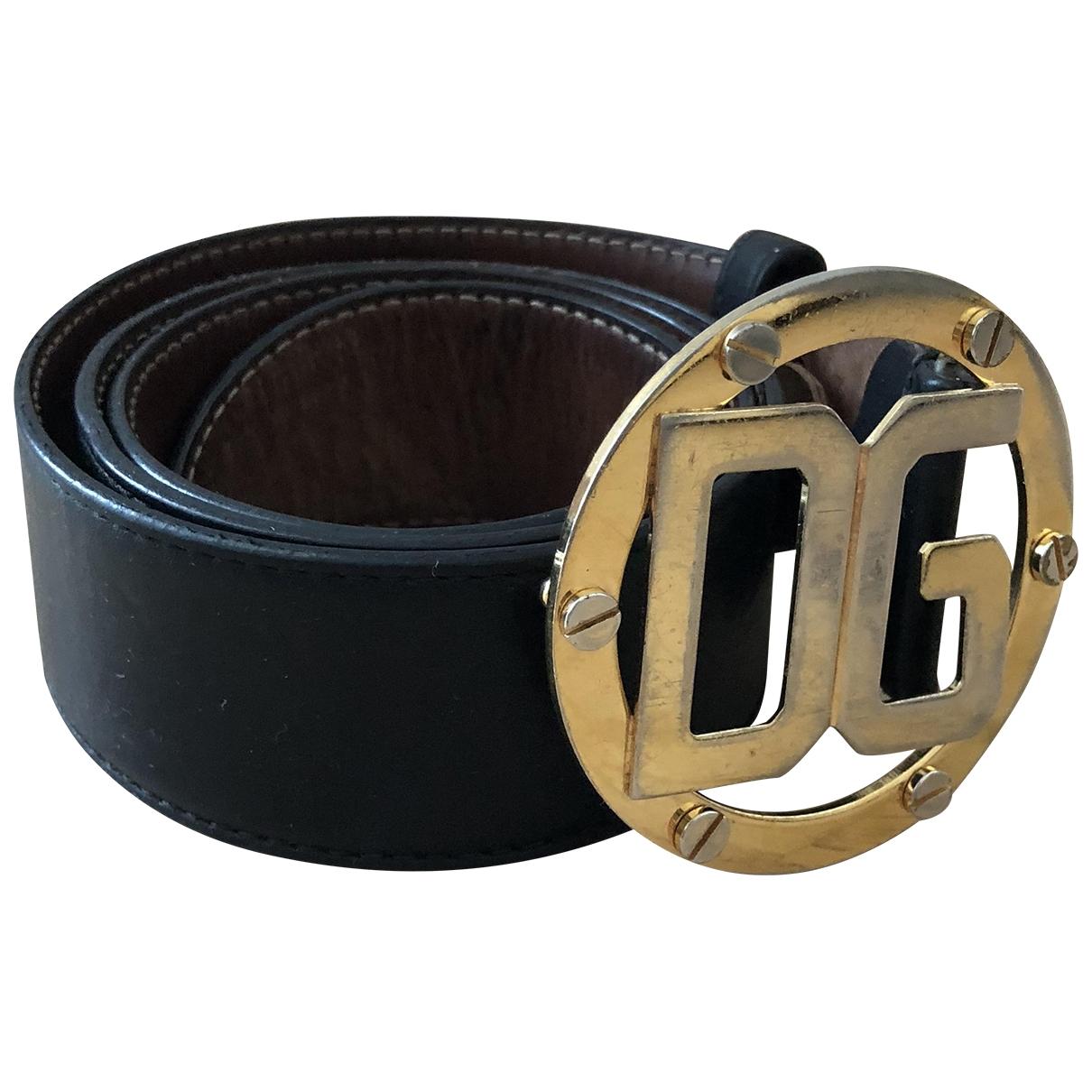 Dolce & Gabbana \N Guertel in  Schwarz Leder