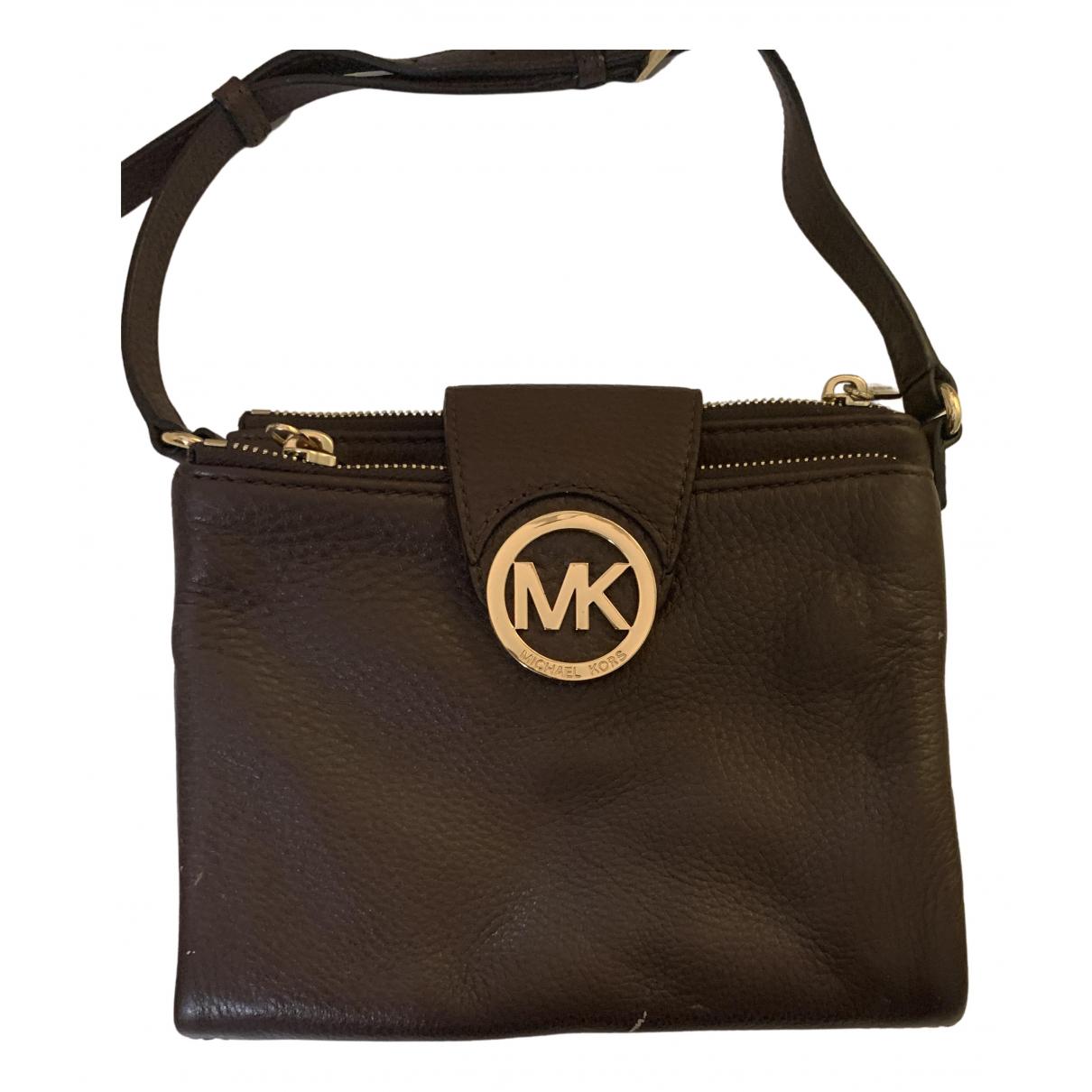 Michael Kors - Pochette   pour femme en cuir - marron