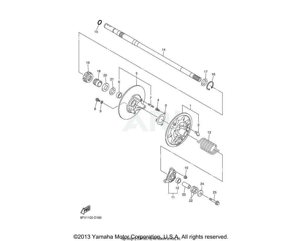 Yamaha OEM 93410-30084-00 CIRCLIP