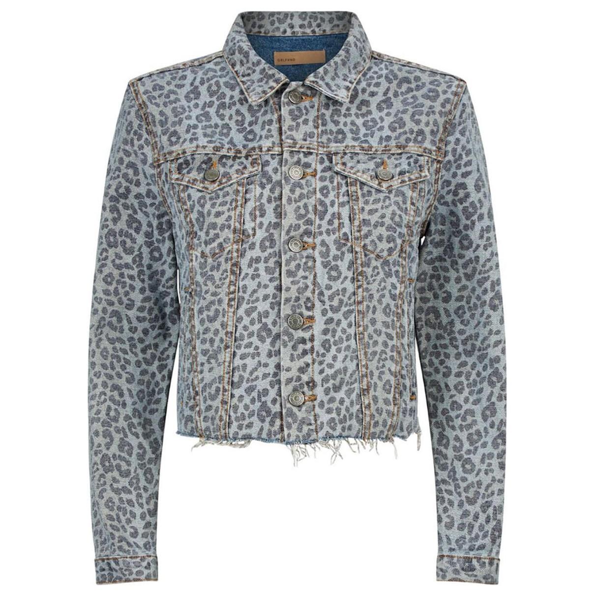 Grlfrnd N Blue Cotton jacket for Women S International