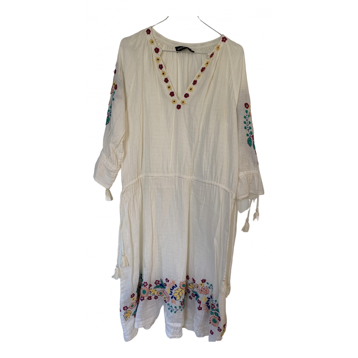 Antik Batik - Robe   pour femme en coton - blanc