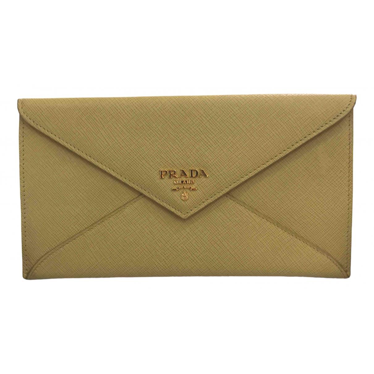 Prada \N Yellow Leather wallet for Women \N