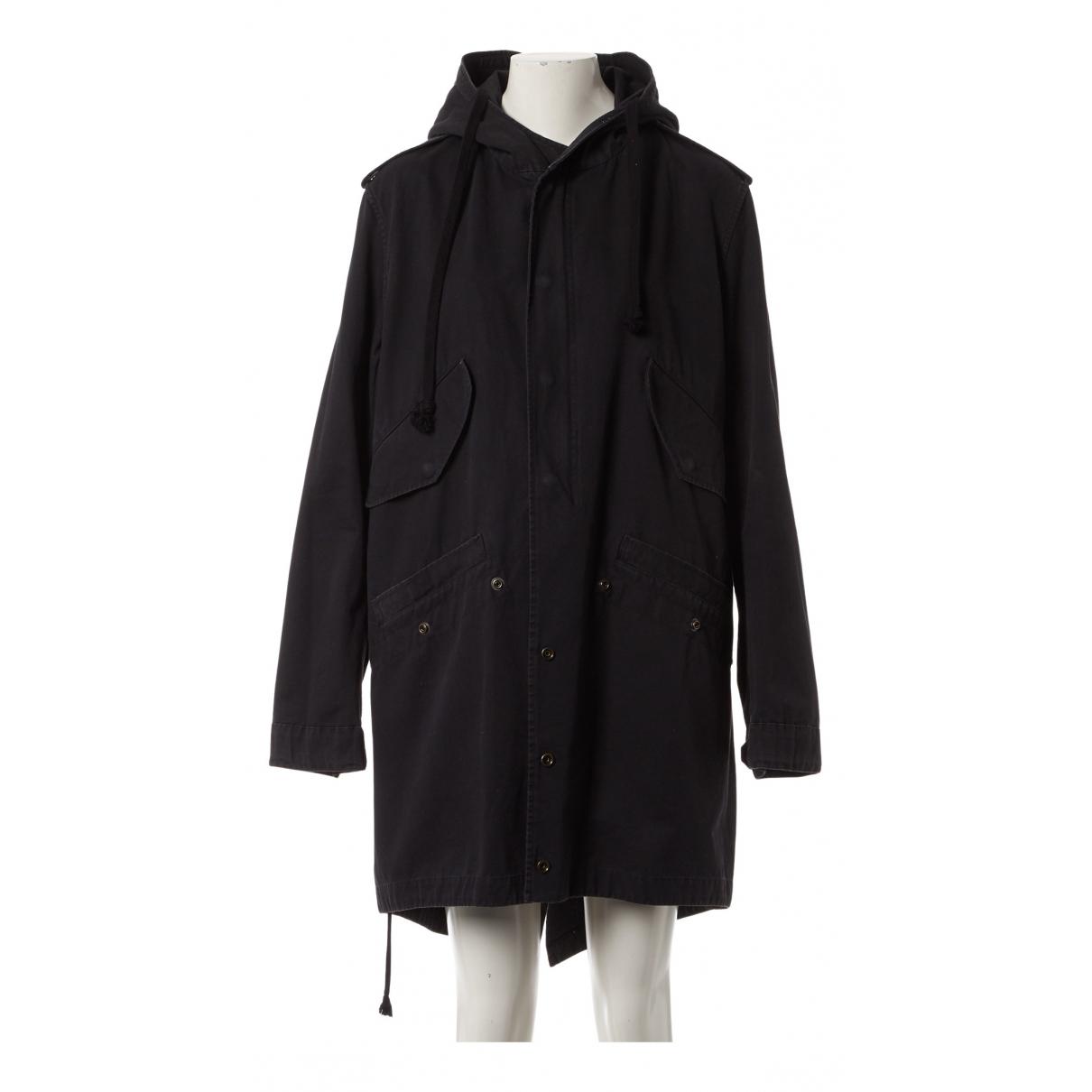 Faith Connexion - Manteau   pour femme en coton - noir