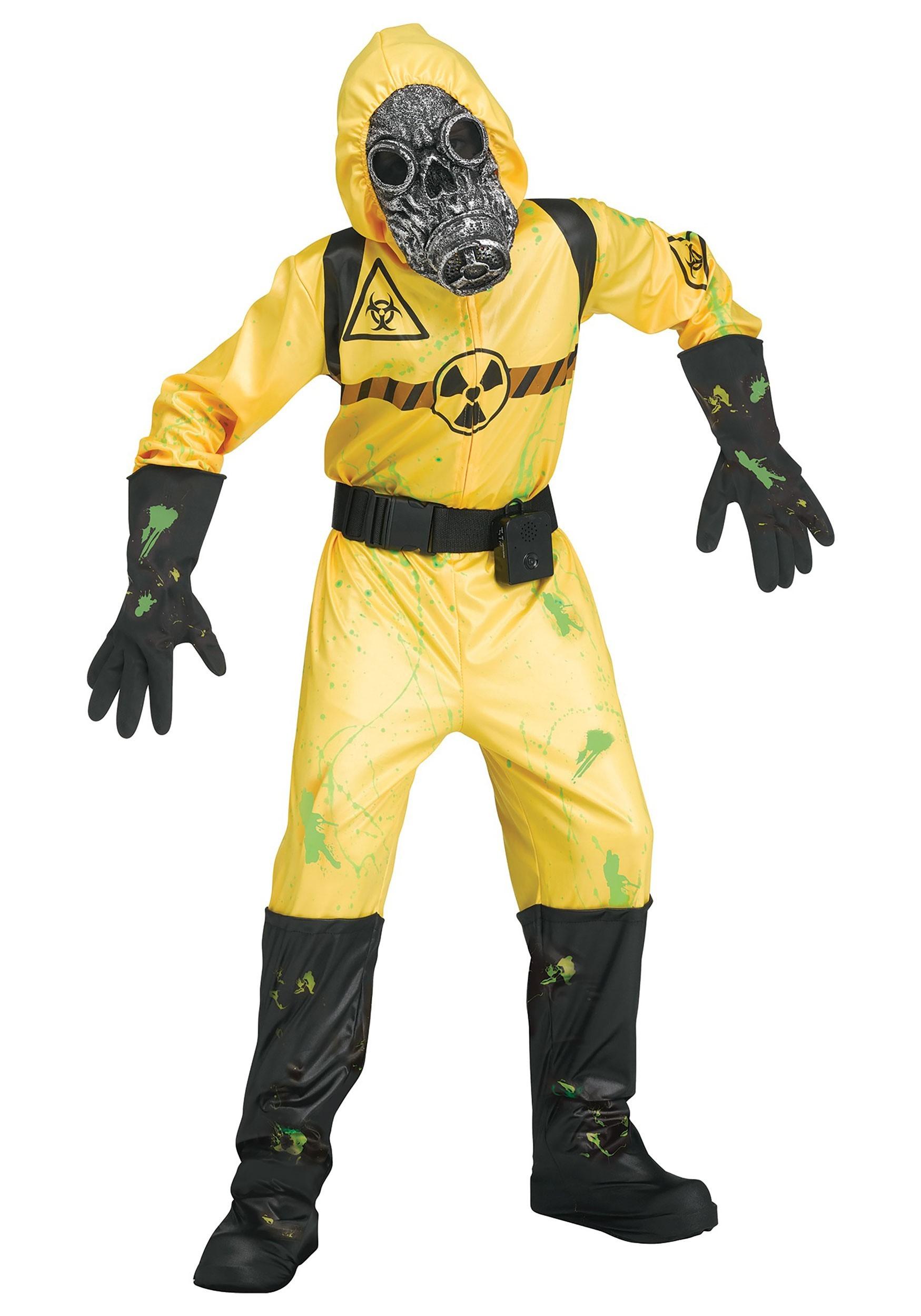 Boy's Sound FX Yellow Bio Hazard Costume