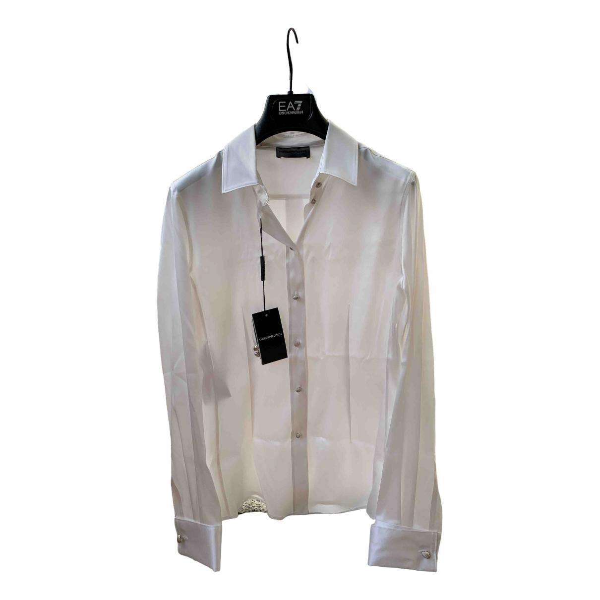 Emporio Armani \N White Silk  top for Women 42 IT
