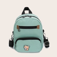 Pocket Front Cartoon Graphic Backpack