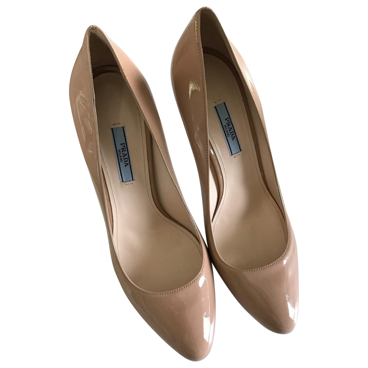 Prada \N Pink Patent leather Heels for Women 39.5 EU