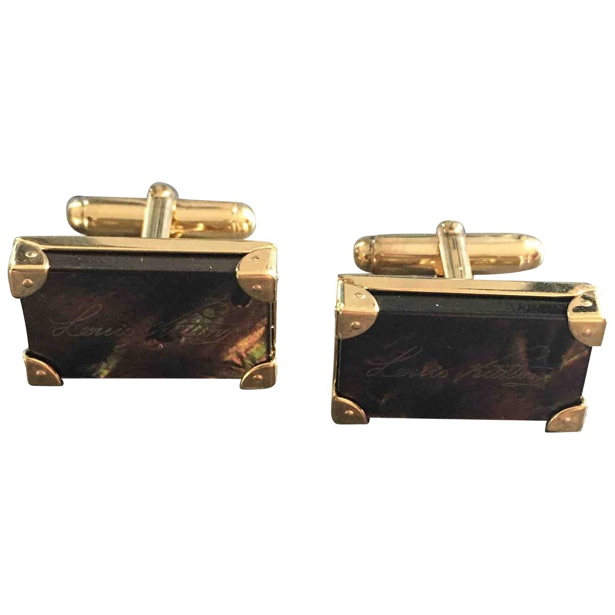 Louis Vuitton \N Manschettenknopfe in  Gold Vermeil