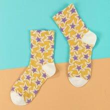 Socken mit Stern Muster