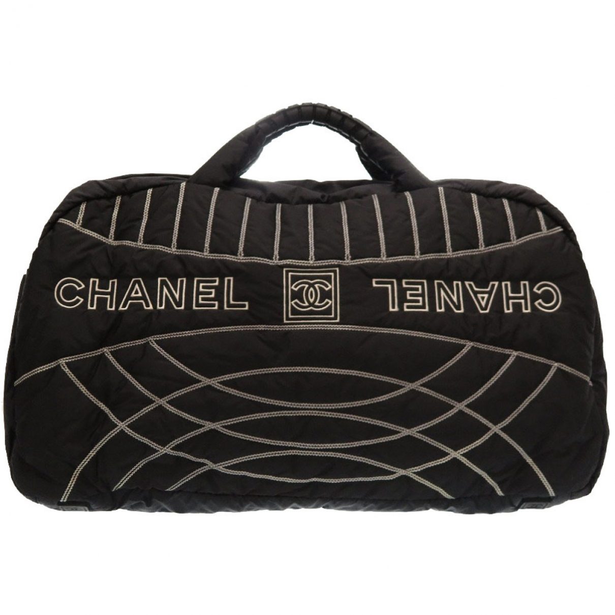 Chanel \N Black Cloth Travel bag for Women \N