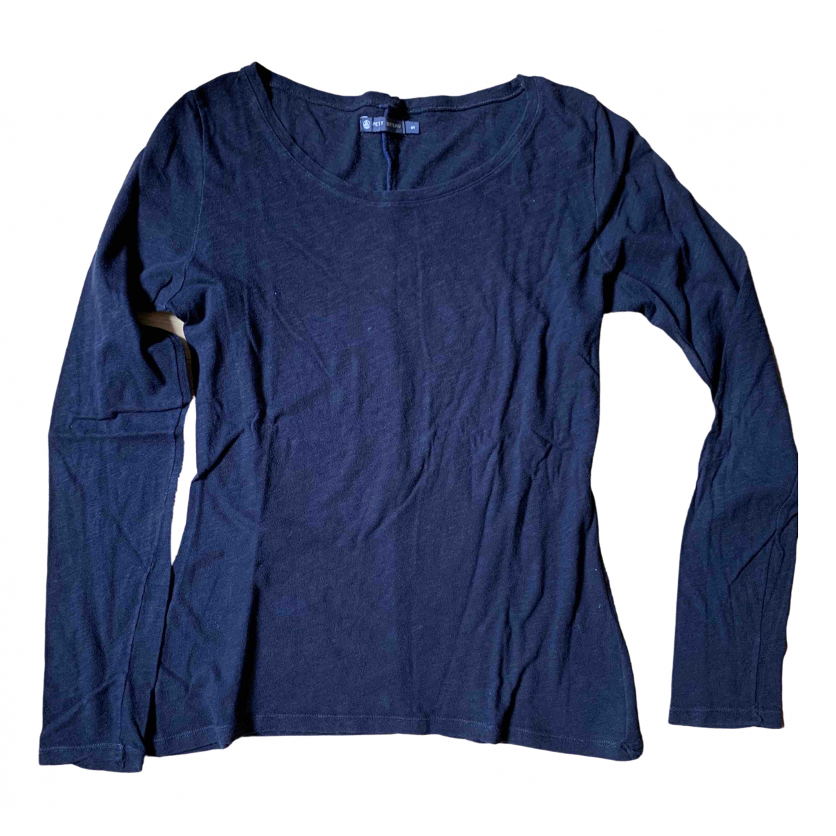 Petit Bateau \N Pullover.Westen.Sweatshirts  in  Marine Baumwolle
