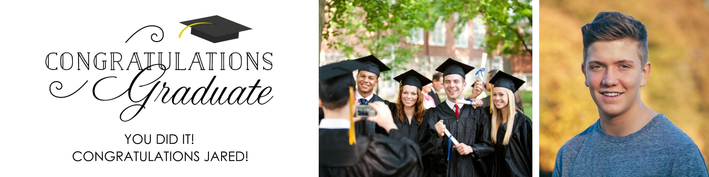 Graduation Photo Banner 2x8, Home Décor -Classic Graduate