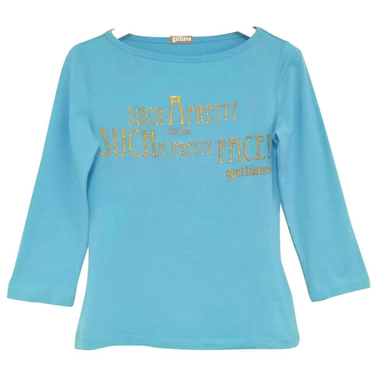 Galliano - Top   pour femme en coton - bleu