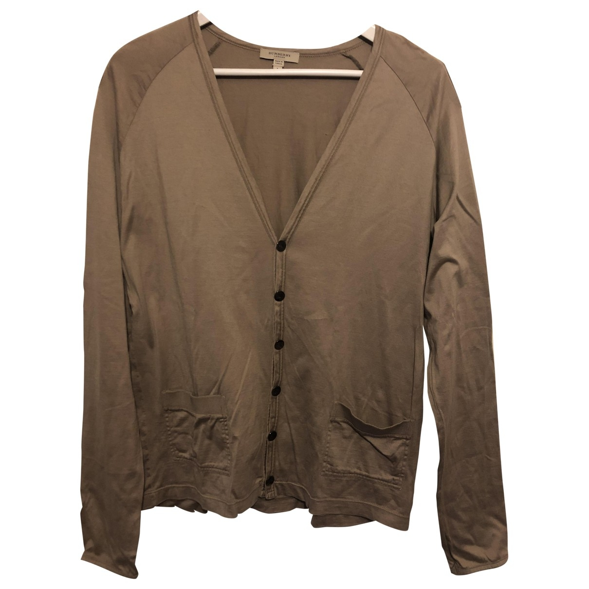 Burberry \N Pullover.Westen.Sweatshirts  in  Kamel Baumwolle