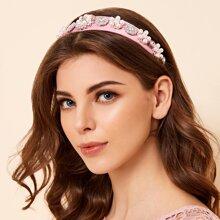 Haarband mit Kunstperlen & Strass
