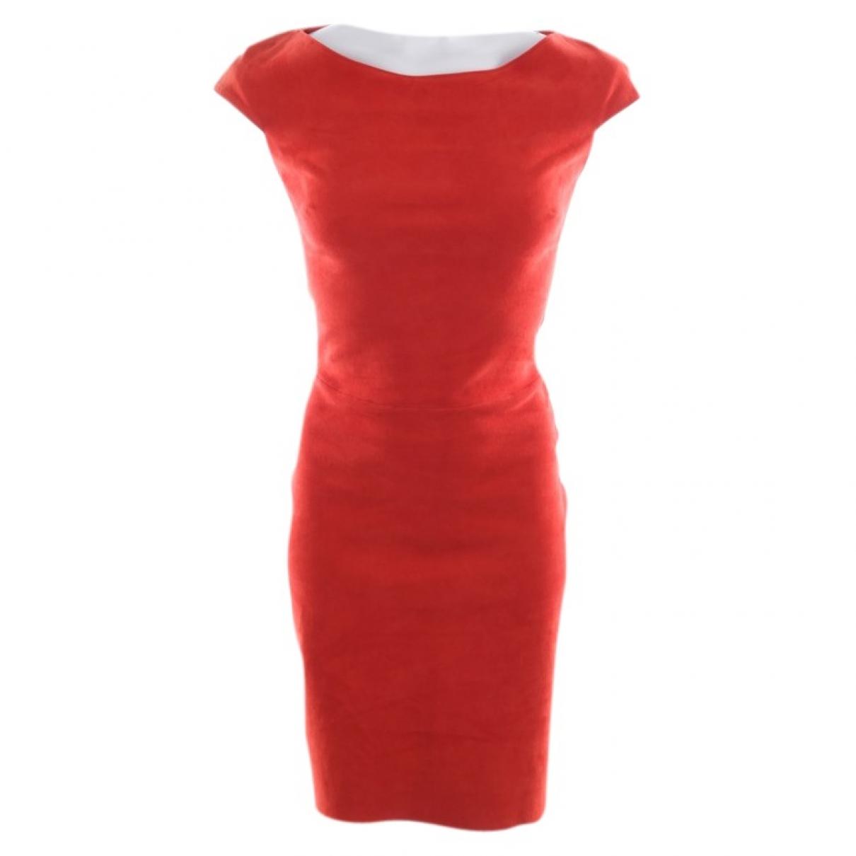 Jitrois - Robe   pour femme en cuir - orange