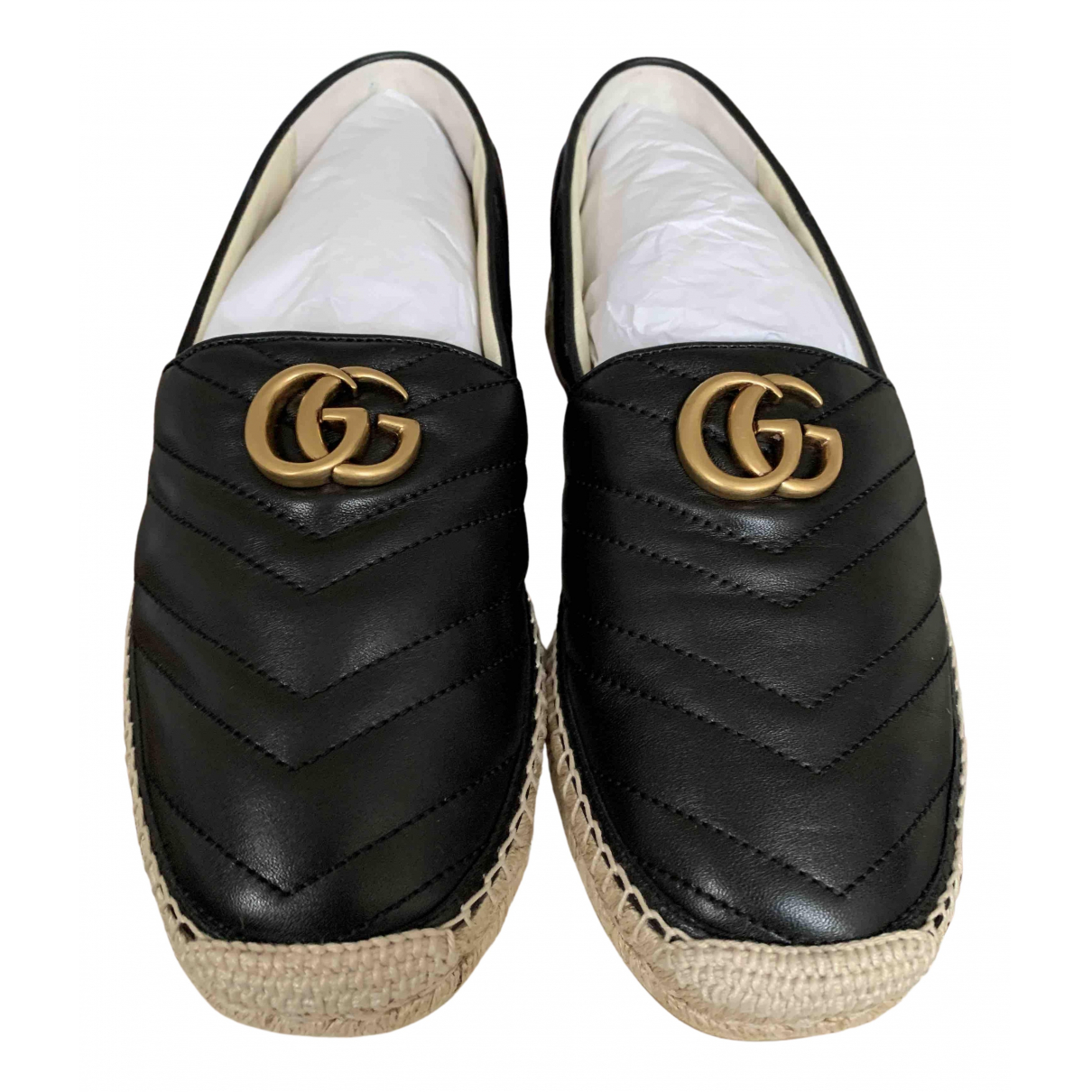 Gucci \N Espadrilles in  Schwarz Leder