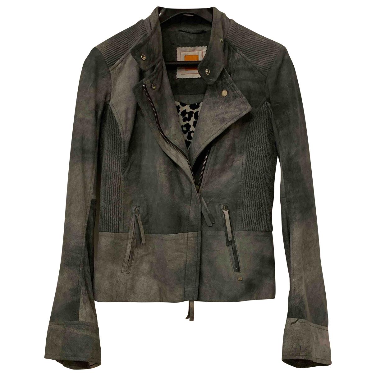 Hugo Boss \N Grey Suede jacket for Women 38 FR