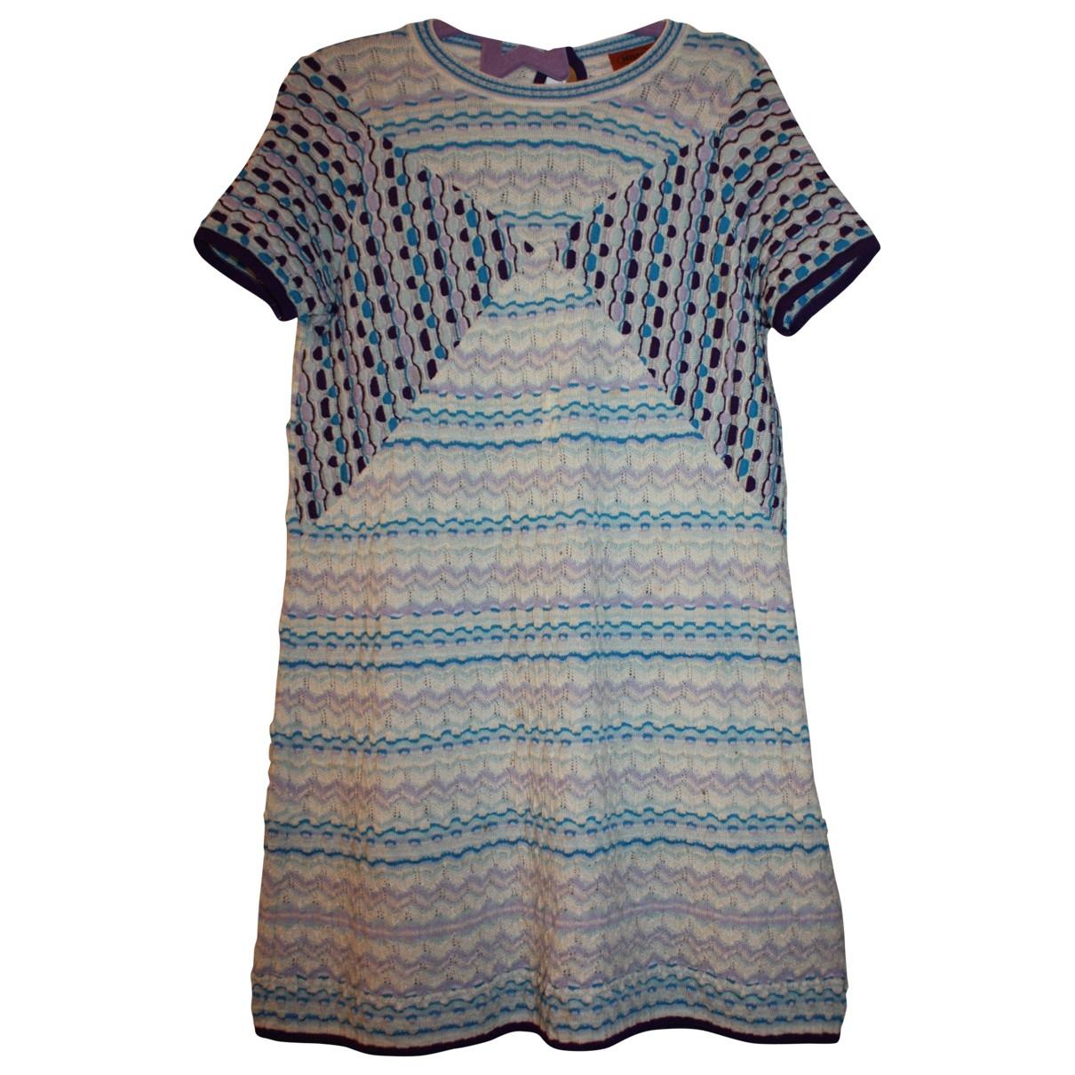Missoni - Robe    pour enfant en laine - bleu
