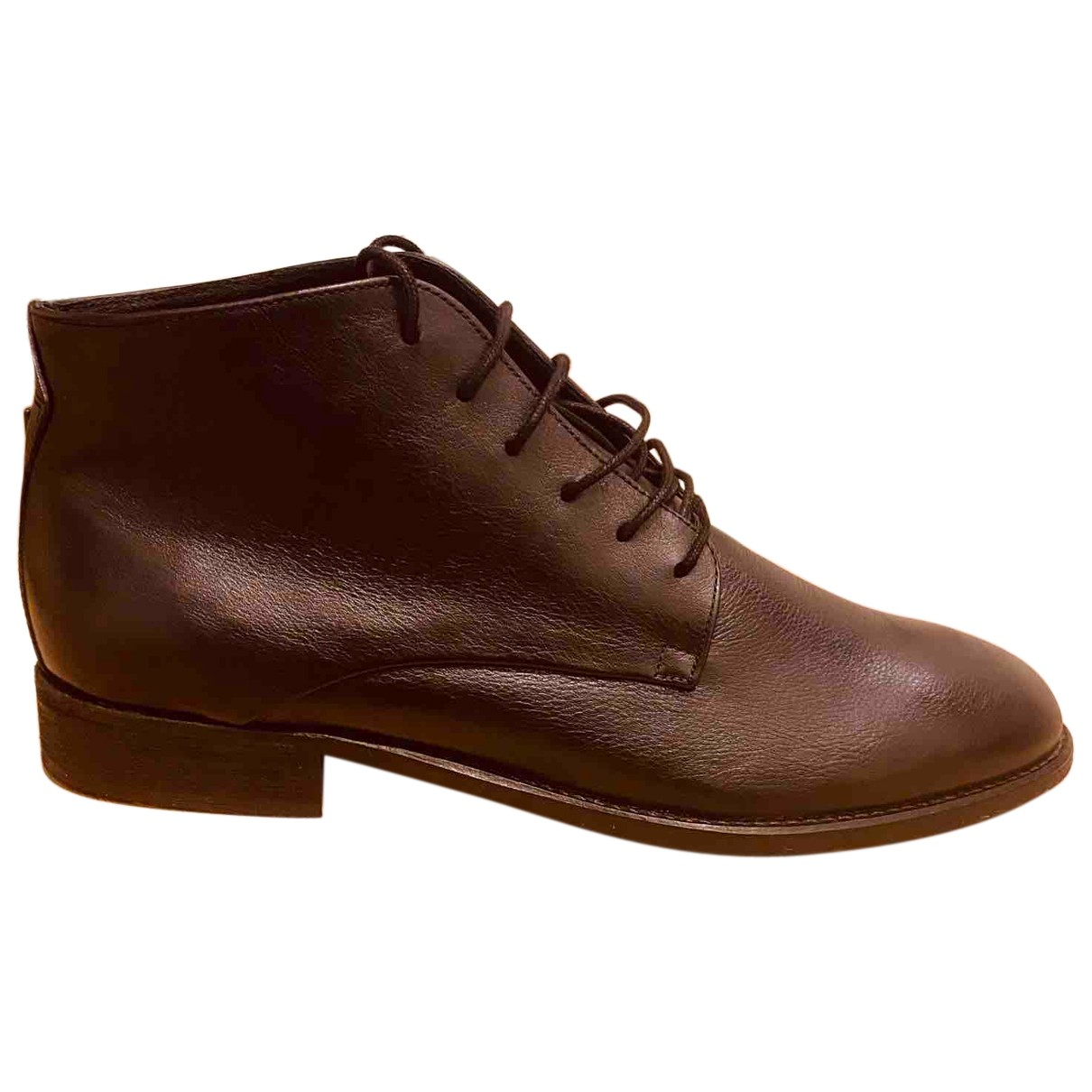 Guess N Black Leather Boots for Men 43 EU