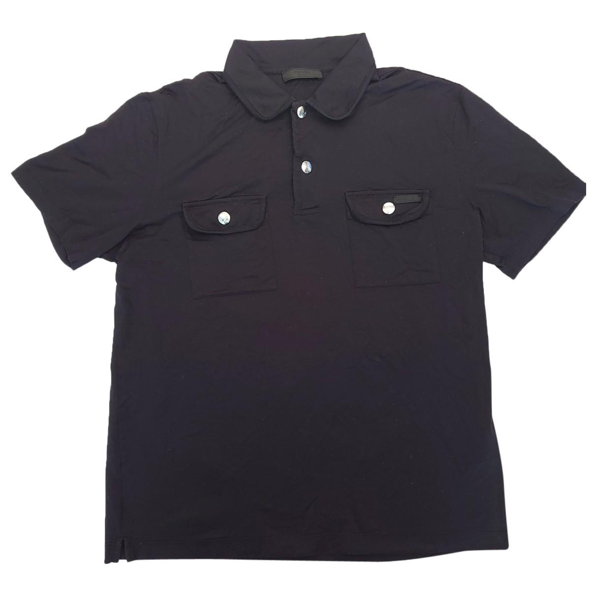 Prada \N Poloshirts in  Schwarz Baumwolle