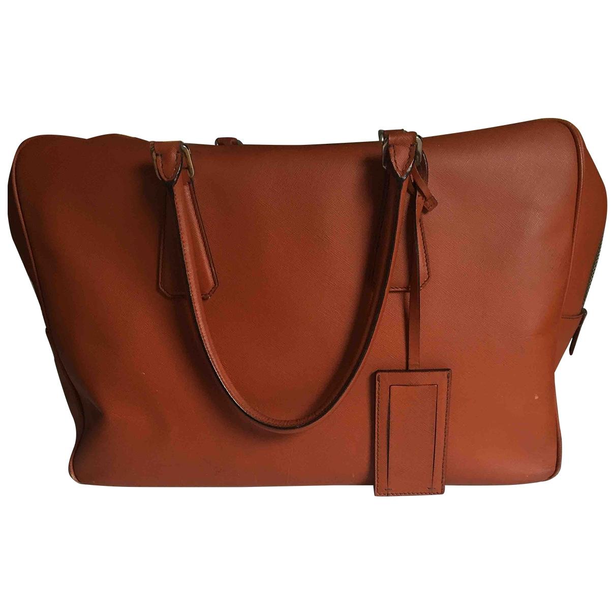 Prada \N Handtasche in  Orange Leder
