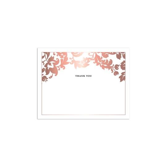 Martha Stewart Personalized Skylands Damask Flat Wedding Foil Thank You   Michaels®