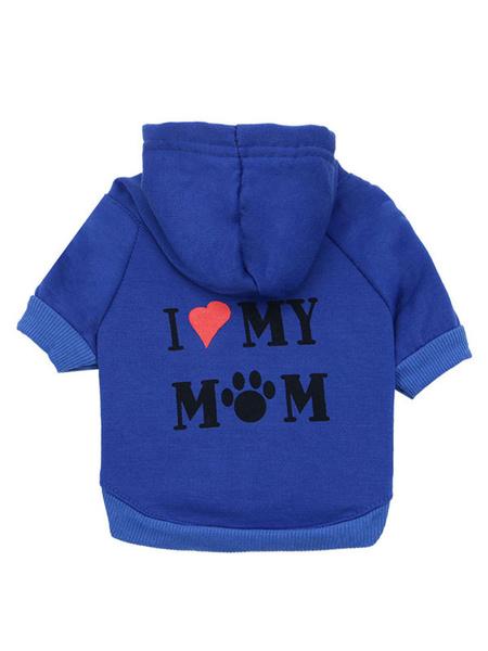Milanoo Sudadera con capucha para mascotas con estampado de letras y ropa para mascotas de algodon