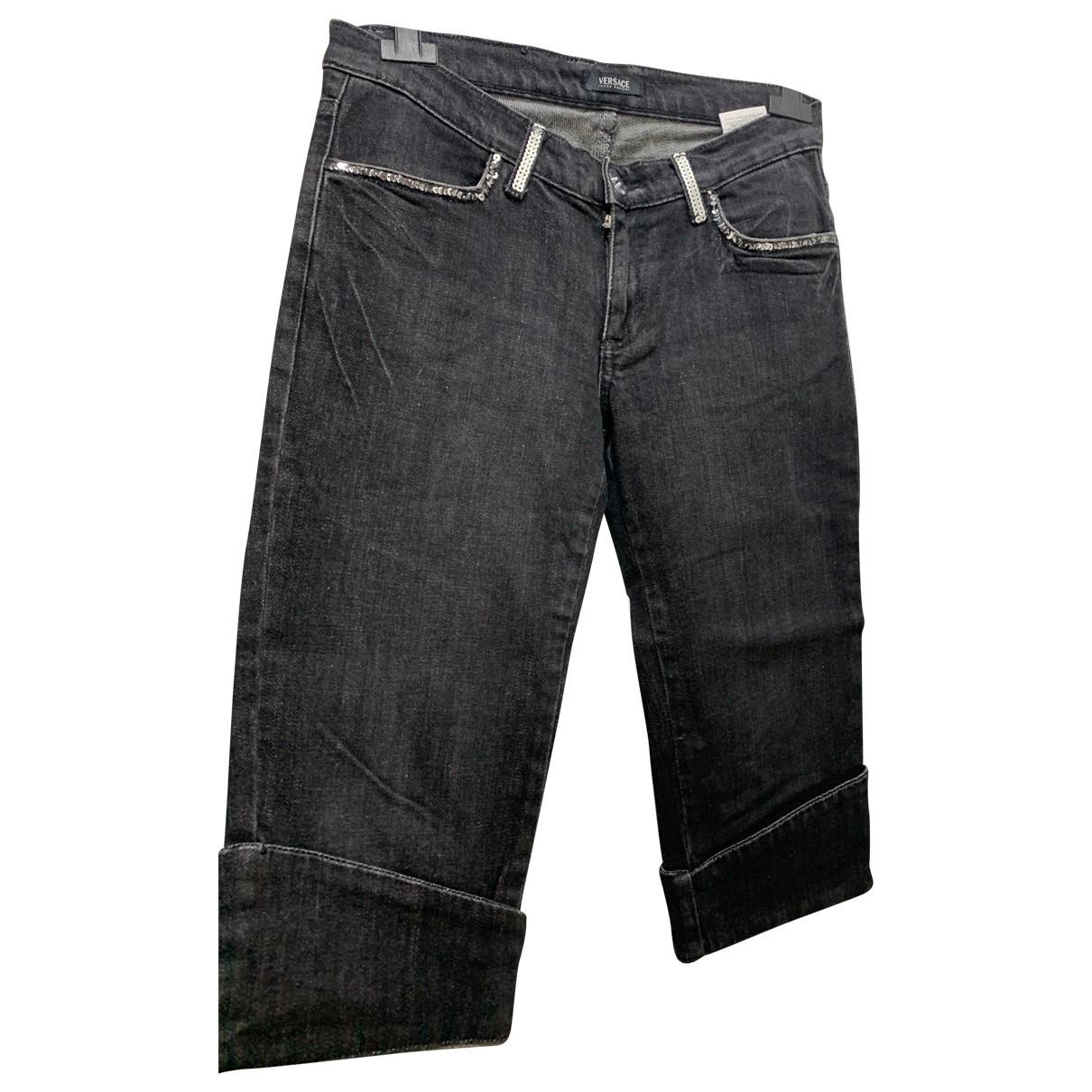 Bermudas en Algodon Negro Versace Jeans