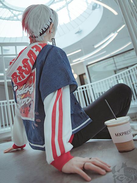 Milanoo Halloween Disfraz Carnaval Boku No Hero Academia BNHA Shoto Todoroki Version de la revista de disfraces de Halloween Cool Cosplay Carnaval