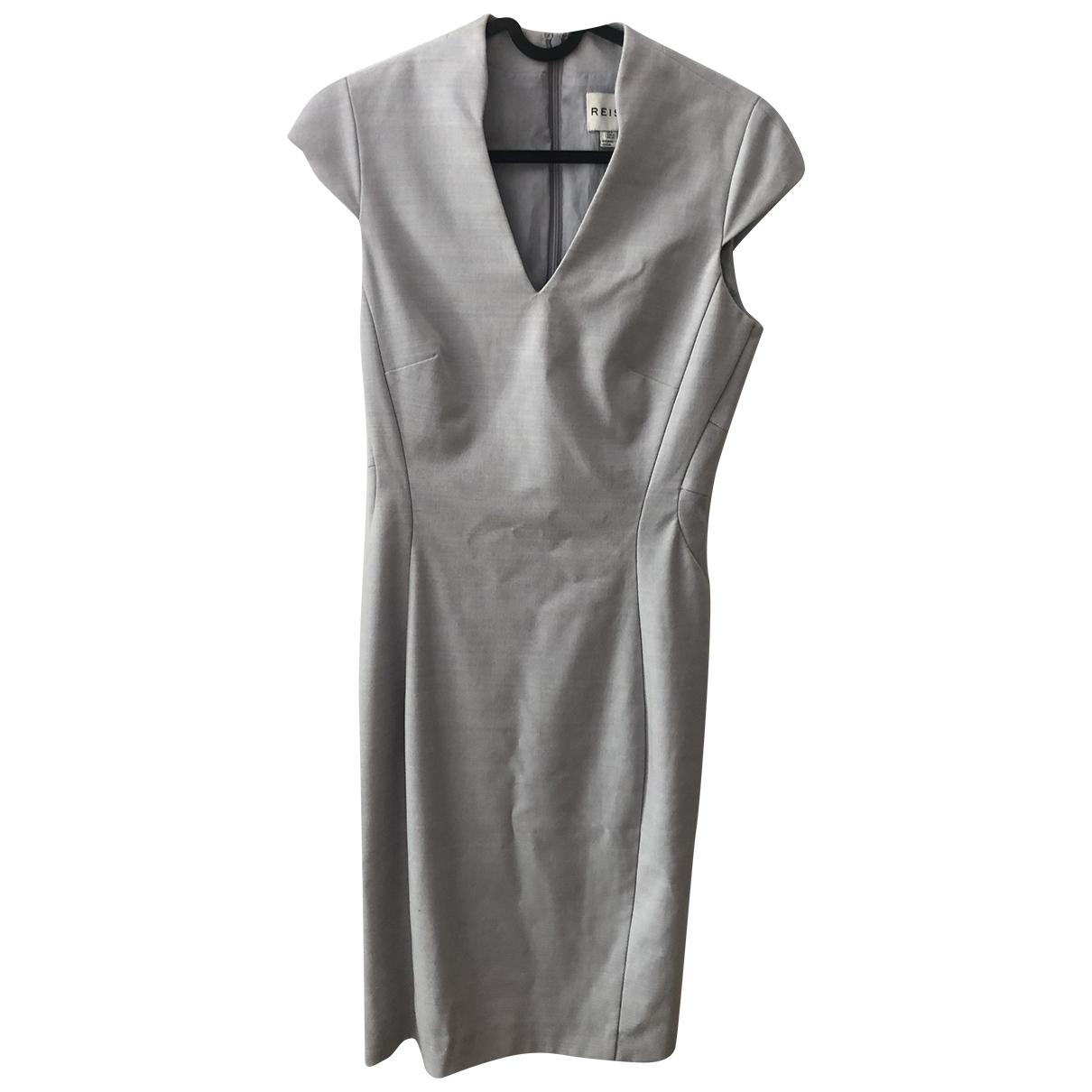 Reiss - Robe   pour femme en laine - gris