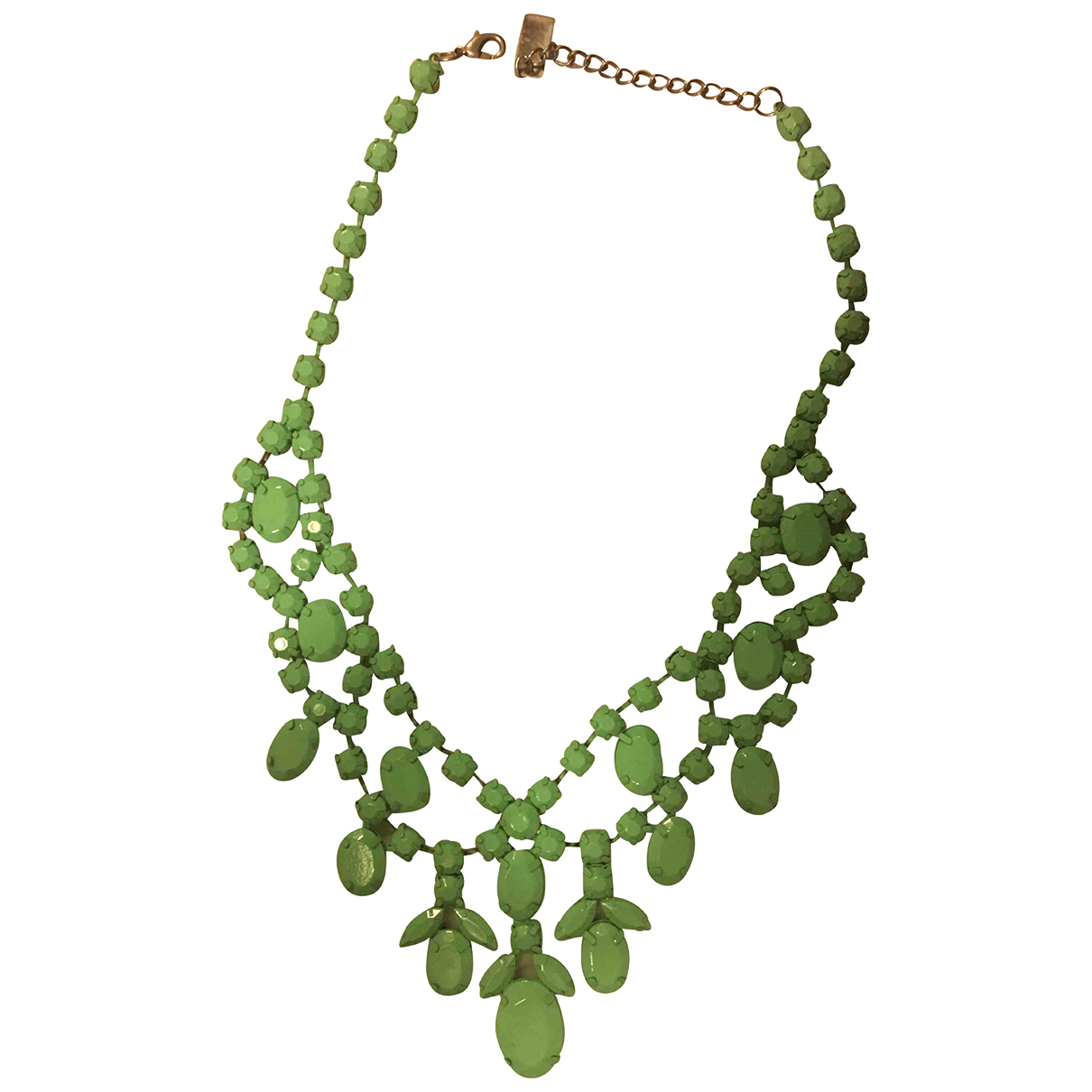 Non Signé / Unsigned N Green necklace for Women N
