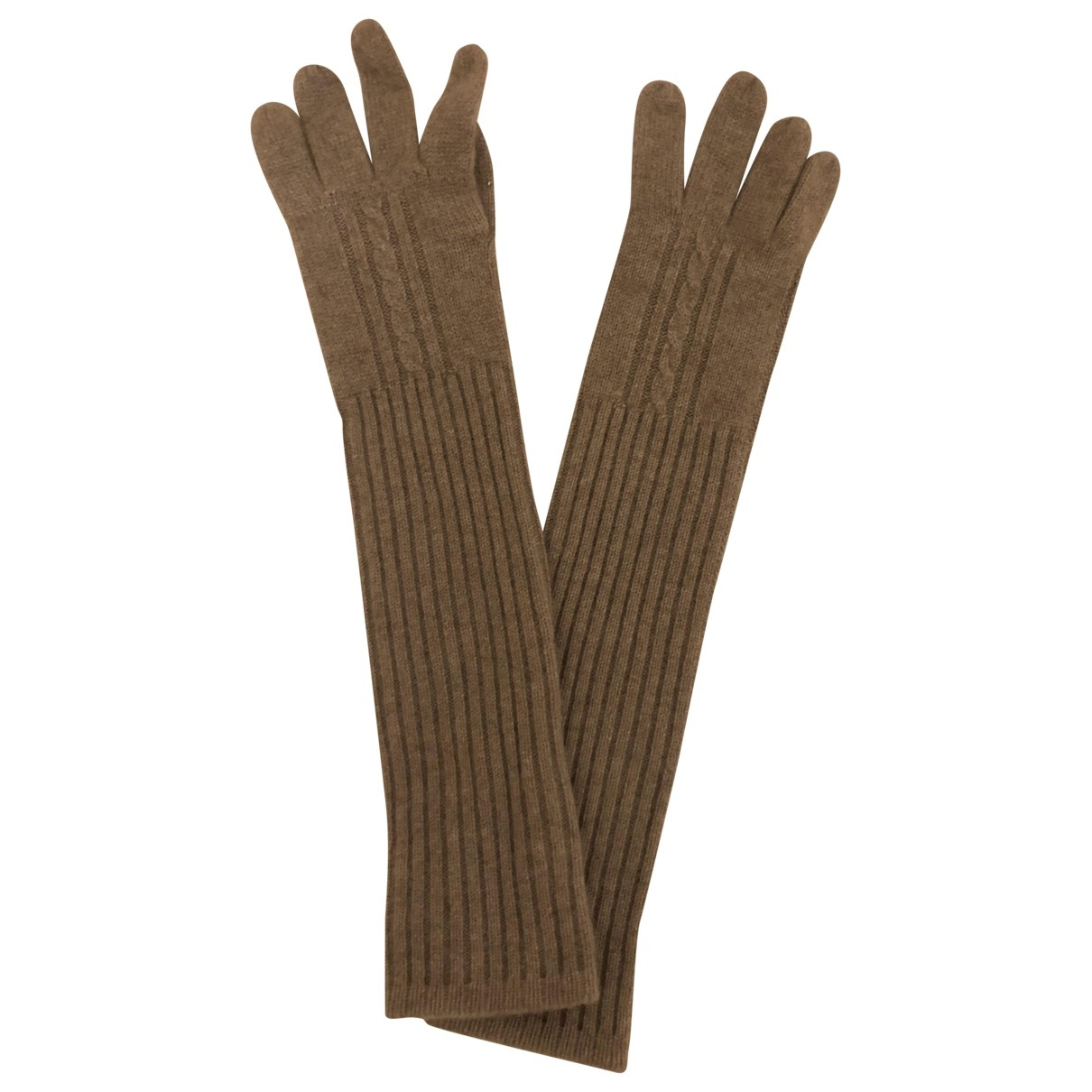 Non Signe / Unsigned \N Handschuhe in  Beige Kaschmir
