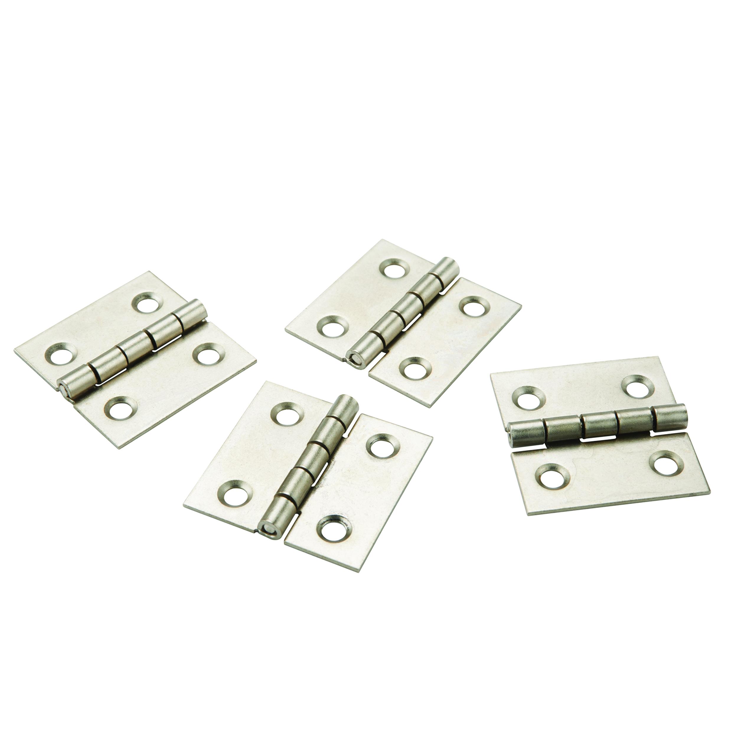 Miniature Narrow Satin Nickel Hinge 1