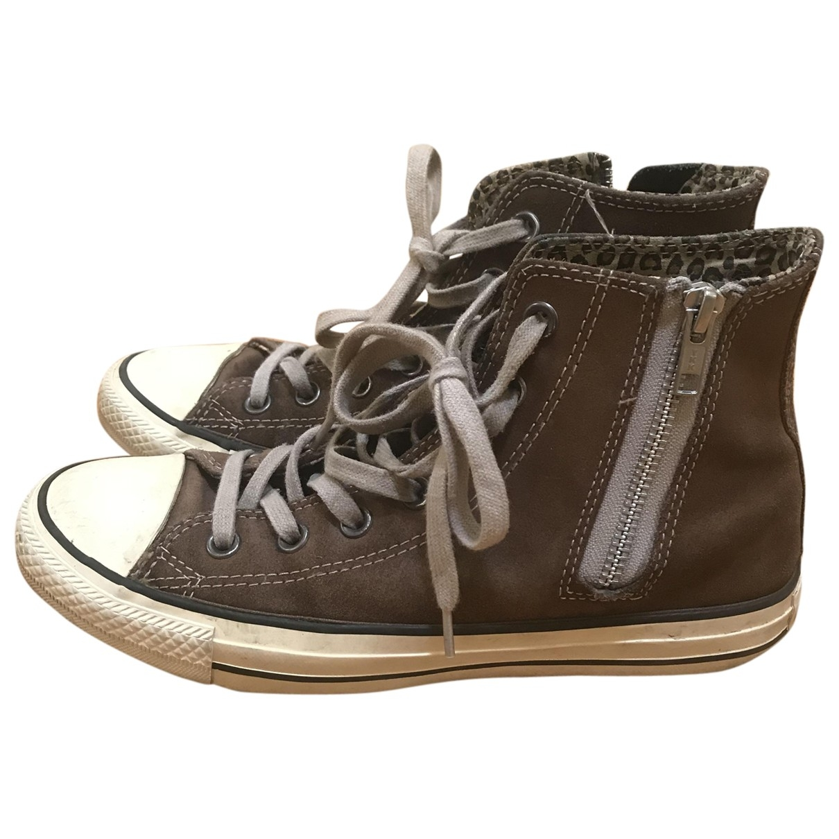 Converse \N Brown Leather Trainers for Women 39 EU